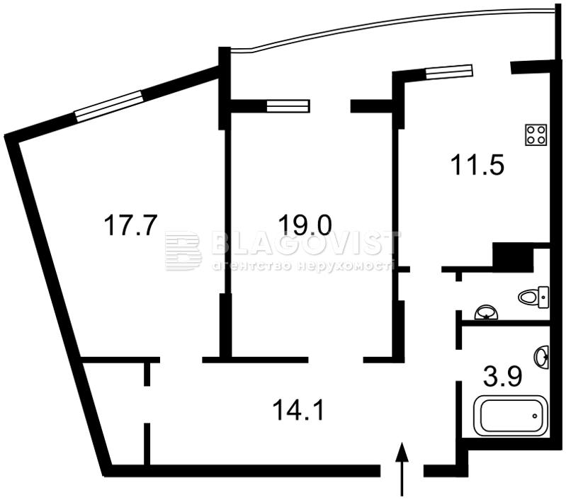 Квартира D-33099, Сікорського Ігоря (Танкова), 1, Київ - Фото 5