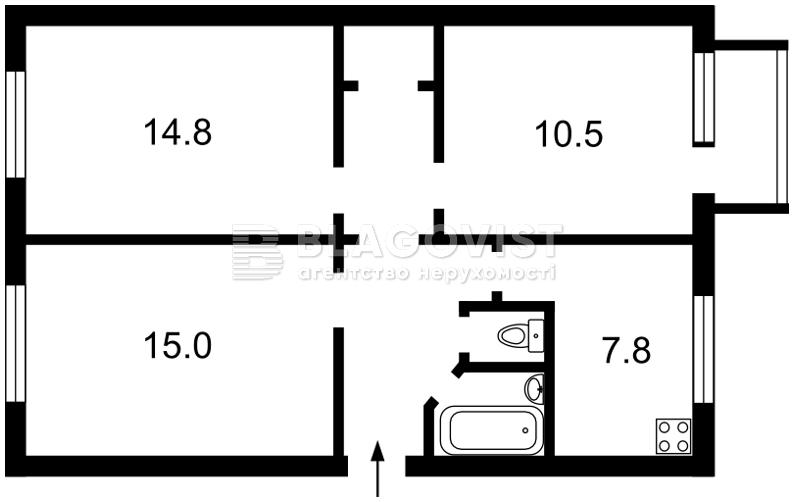 Квартира R-6702, Лейпцигская, 12, Киев - Фото 3