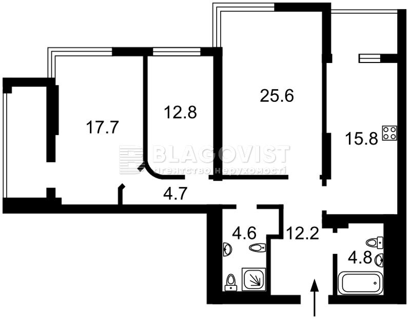 Квартира R-11798, Лобановского просп. (Краснозвездный просп.), 4в, Киев - Фото 3
