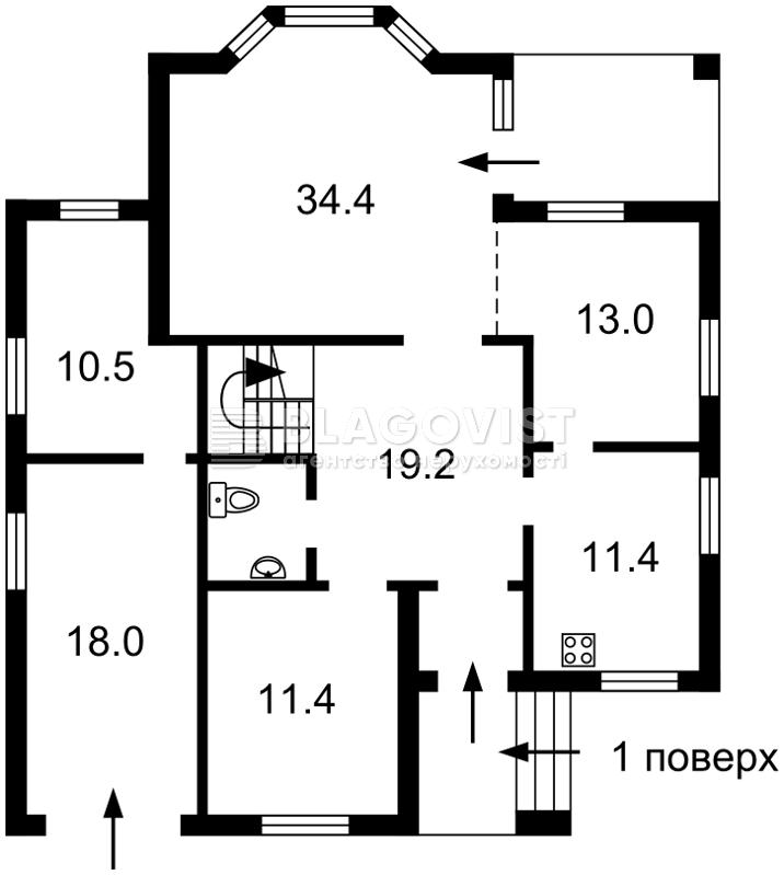 Дом F-38846, Марии Лагуновой, Княжичи (Броварской) - Фото 5