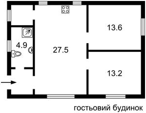 Будинок М.Лагуновой, Княжичі (Броварський), F-38846 - Фото 5