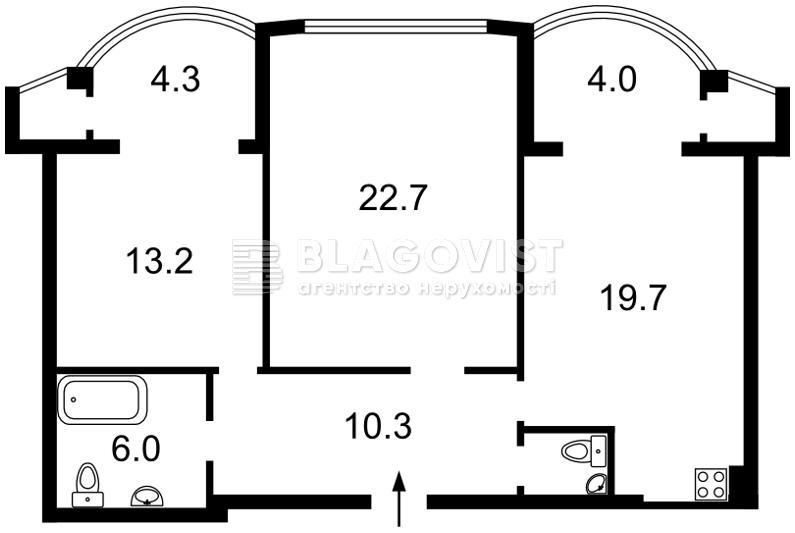 Квартира E-36977, Хмельницького Богдана, 58а, Київ - Фото 3