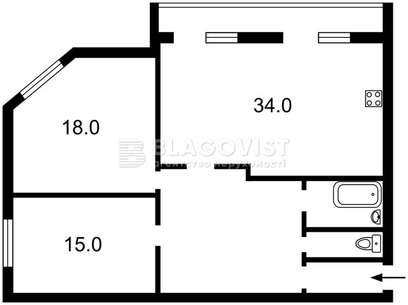 Квартира A-108154, Смилянская, 10/31, Киев - Фото 4