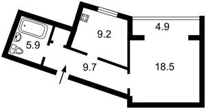 Квартира Княжий Затон, 9, Киев, Z-484226 - Фото2