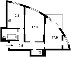 Квартира Шумського Юрія, 5, Київ, Z-369655 - Фото 2