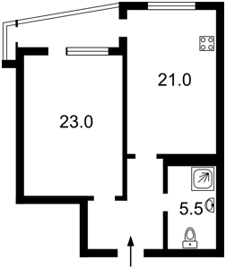 Квартира Чоколівський бул., 42а, Київ, Z-230359 - Фото2