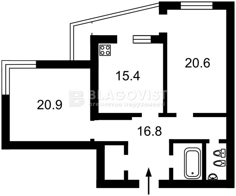 Квартира C-104523, Ирпенская, 69а, Киев - Фото 4