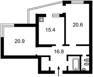 Квартира Ирпенская, 69а, Киев, C-104523 - Фото2