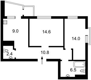 Квартира Лебедєва М., 4/39а, Київ, Z-233445 - Фото2