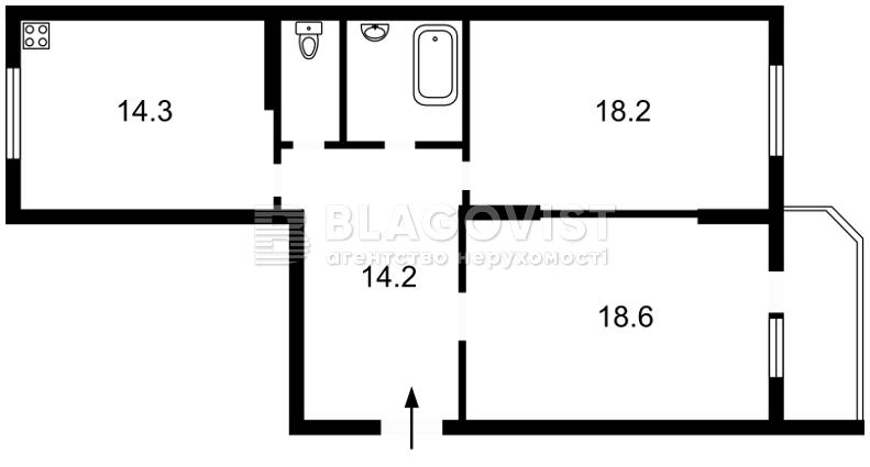 Квартира F-38694, Пономарьова, 26, Коцюбинське - Фото 3