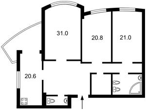 Квартира Героев Сталинграда просп., 12г, Киев, Z-109641 - Фото2