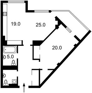 Квартира Драгомирова, 14, Київ, Z-18570 - Фото2