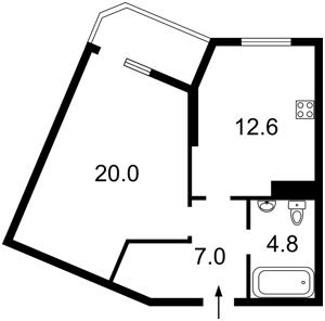 Квартира Бендукідзе Кахи, 2, Київ, Z-225308 - Фото 2