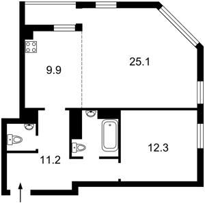 Квартира Дегтяревская, 25а, Киев, Z-1886010 - Фото2