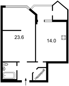 Квартира Кудряшова, 16, Киев, Z-61461 - Фото2