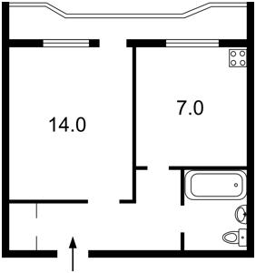 Квартира Тростянецкая, 5а, Киев, Z-1563823 - Фото2