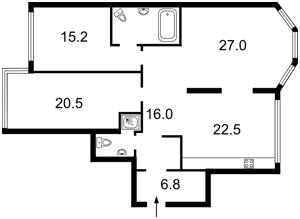 Квартира Амосова Николая, 4, Киев, Z-255583 - Фото2