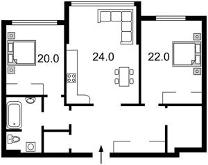 Квартира Оболонський просп., 26, Київ, Z-234210 - Фото2