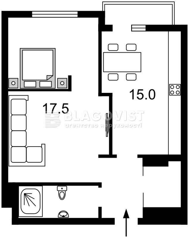 Квартира D-33360, Тютюнника Василия (Барбюса Анри), 51/1а, Киев - Фото 7