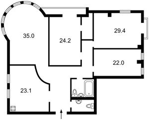 Квартира Хорива, 39-41, Київ, A-108340 - Фото2