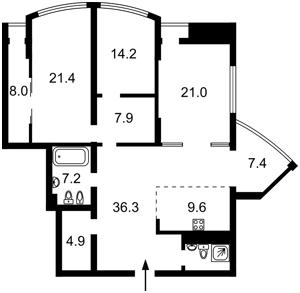 Квартира Глибочицька, 32а, Київ, F-39210 - Фото2