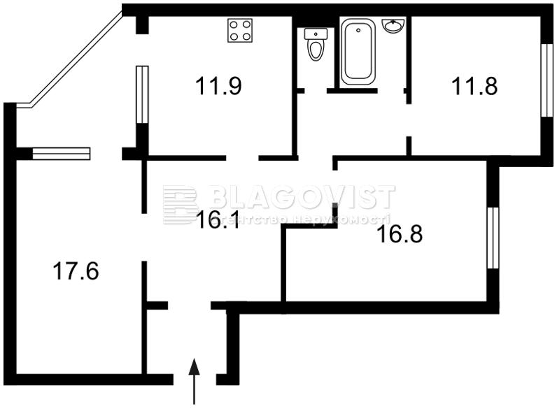 Квартира Z-281409, Лисковская, 24, Киев - Фото 4