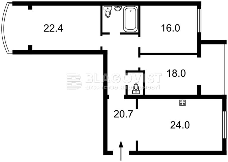 Квартира F-39075, Героев Сталинграда просп., 6, Киев - Фото 4