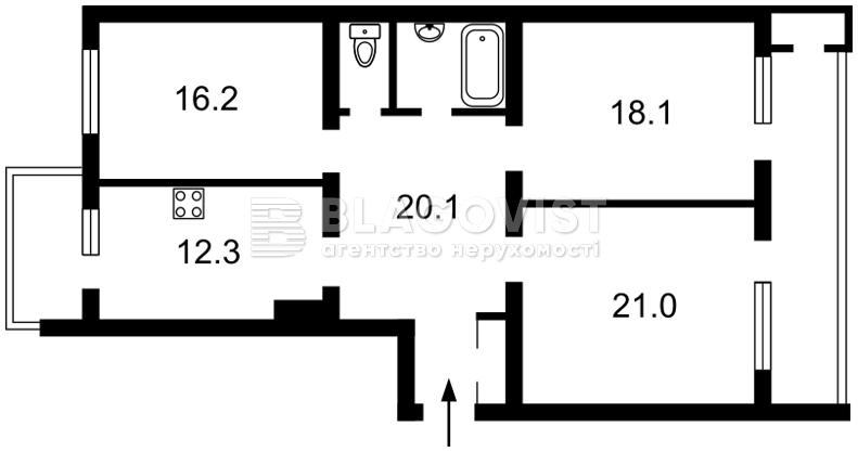 Квартира F-39246, Гончара Олеся, 62, Киев - Фото 3