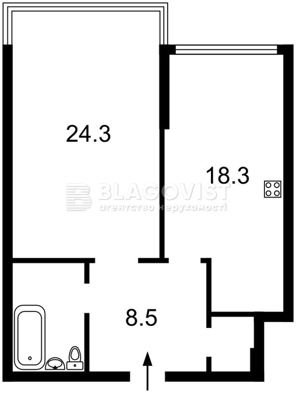 Квартира Z-239339, Днепровская наб., 14, Киев - Фото 4