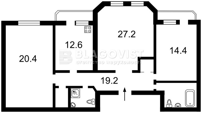 Квартира E-37114, Коновальця Євгена (Щорса), 32б, Київ - Фото 6