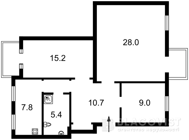 Квартира A-108330, Грушевского Михаила, 9, Киев - Фото 2