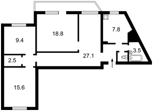 Apartment Balzaka Onore de, 4, Kyiv, Z-87456 - Photo2