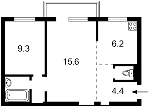 Квартира Велика Васильківська, 114, Київ, D-33512 - Фото2