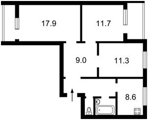 Квартира Правды просп., 64, Киев, F-39217 - Фото2