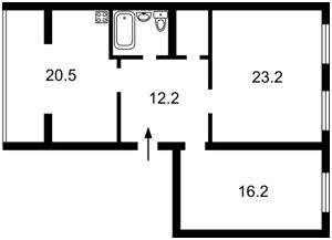 Квартира Абрикосовая, 5, Софиевская Борщаговка, F-39366 - Фото2