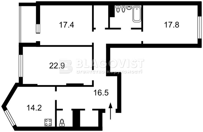 Квартира Z-223295, Вышгородская, 45, Киев - Фото 5