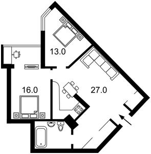 Квартира Краснопольская, 2г, Киев, R-2793 - Фото2