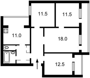 Квартира Иорданская (Гавро Лайоша), 9б, Киев, Z-266339 - Фото2