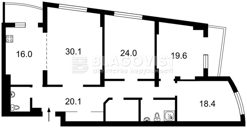 Квартира A-108518, Окипной Раиcы, 10б, Киев - Фото 4