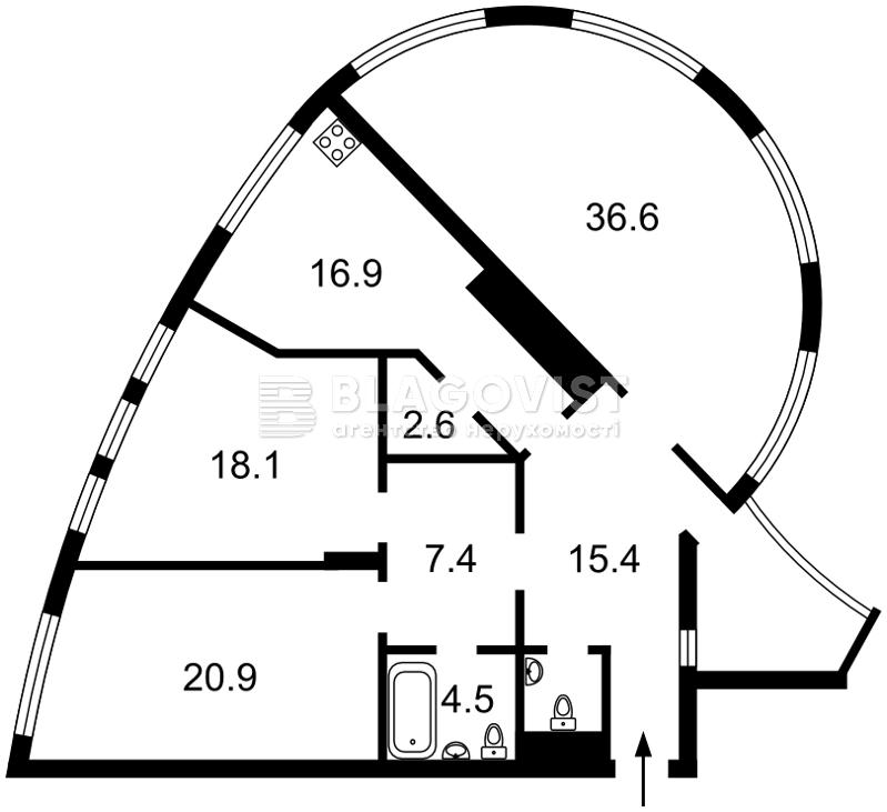 Квартира F-39453, Коновальца Евгения (Щорса), 36в, Киев - Фото 6