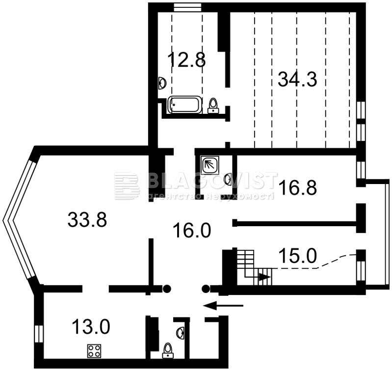 Квартира R-7966, Кирилловская (Фрунзе), 14/18, Киев - Фото 3