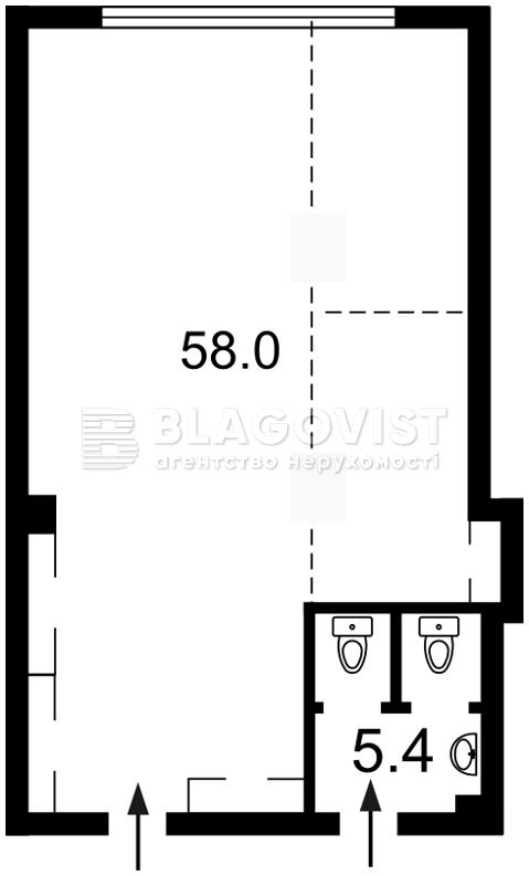 Нежилое помещение, C-104636, Антоновича (Горького), Киев - Фото 2