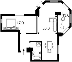 Квартира Пріорська (Полупанова), 10, Київ, D-33576 - Фото 2