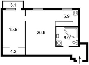 Квартира Чигоріна, 49, Київ, H-41415 - Фото2