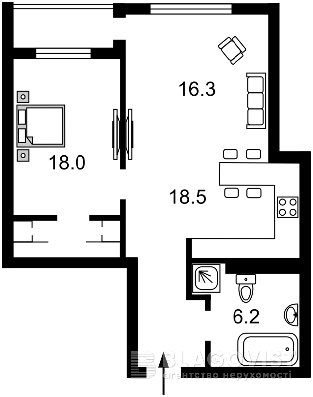 Квартира R-15050, Саксаганского, 37к, Киев - Фото 6