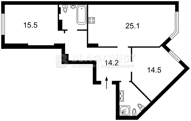 Квартира M-32879, Вышгородская, 45, Киев - Фото 5