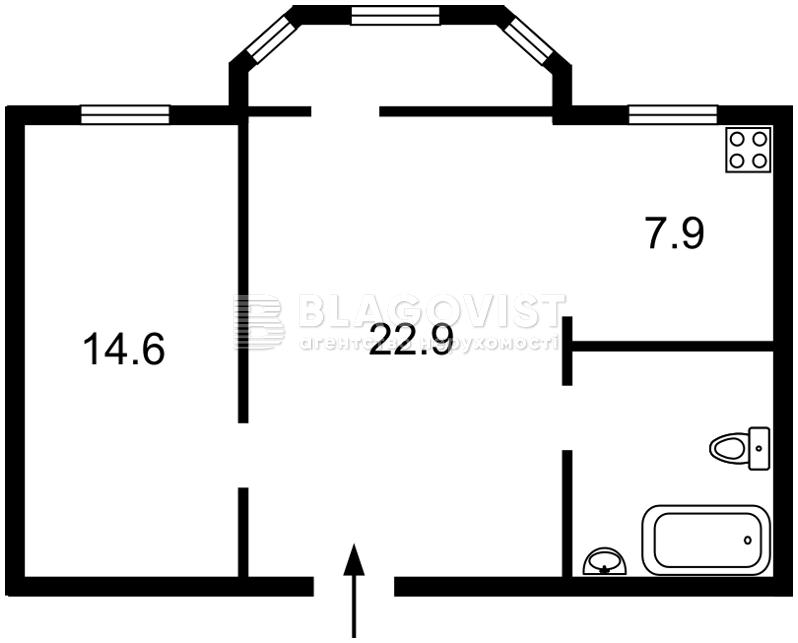 Квартира C-104792, Грушевского Михаила, 34/1, Киев - Фото 6
