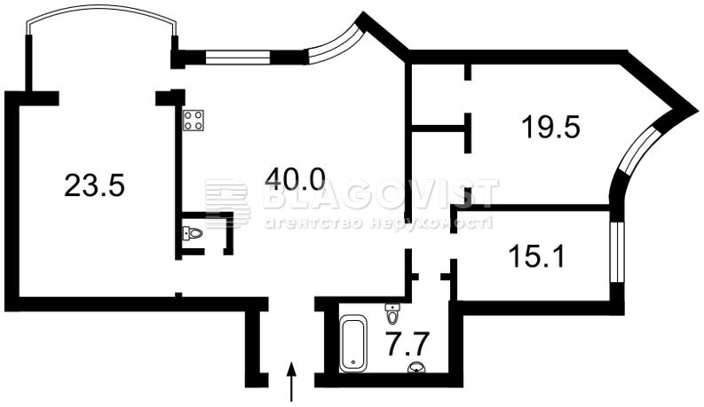 Квартира D-33574, Героев Сталинграда просп., 10а, Киев - Фото 5