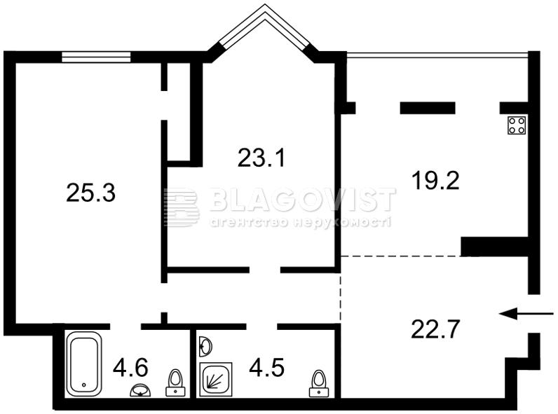 Квартира R-15463, Коновальца Евгения (Щорса), 32г, Киев - Фото 5