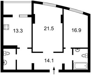 Квартира Победы просп., 121а, Киев, K-14044 - Фото2
